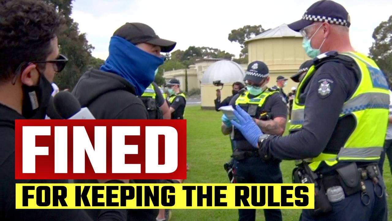 Mandatory mask enforcement gets WEIRD in Melbourne