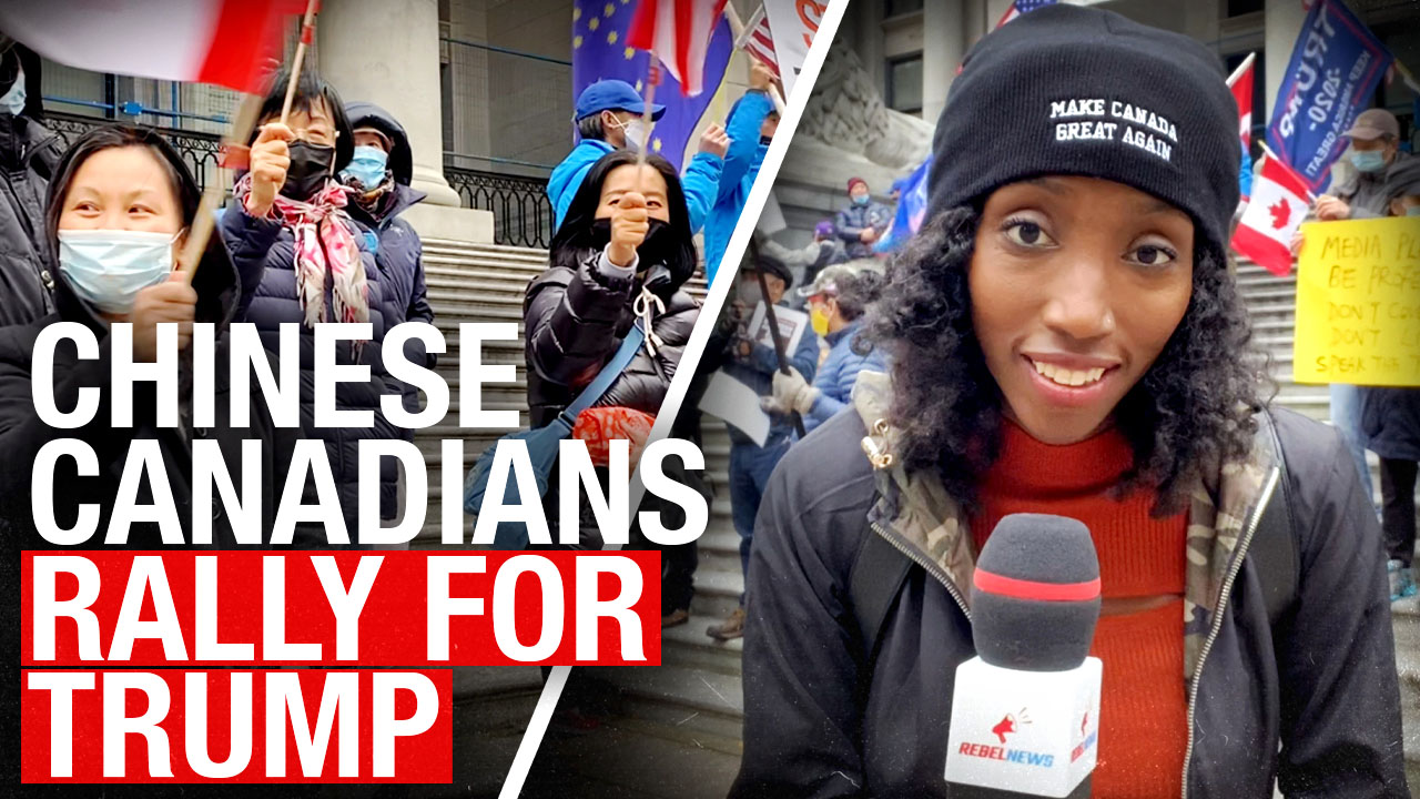 """We don't want Communism in Canada!"": Chinese-Canadians hold #MAGA rally in Vancouver"
