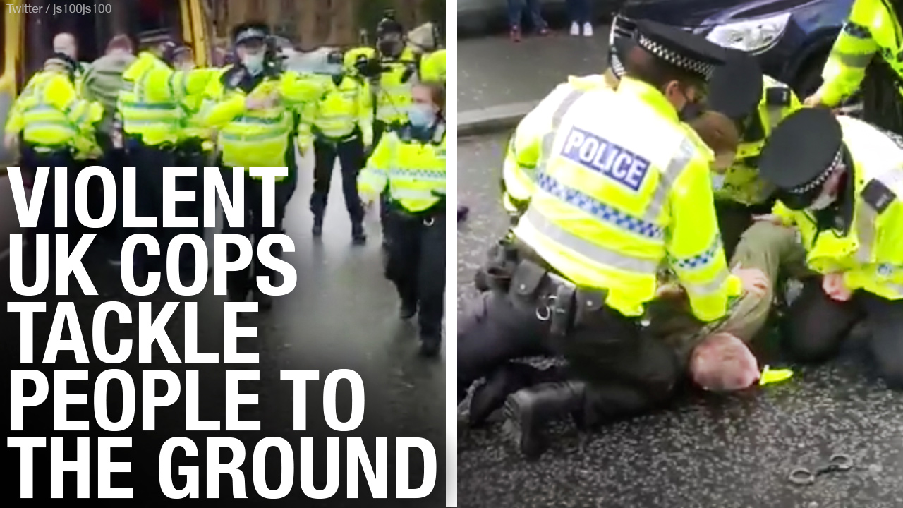 U.K. police USE FORCE with lockdown protesters, but treat Black Lives Matter, Extinction Rebellion with kid gloves