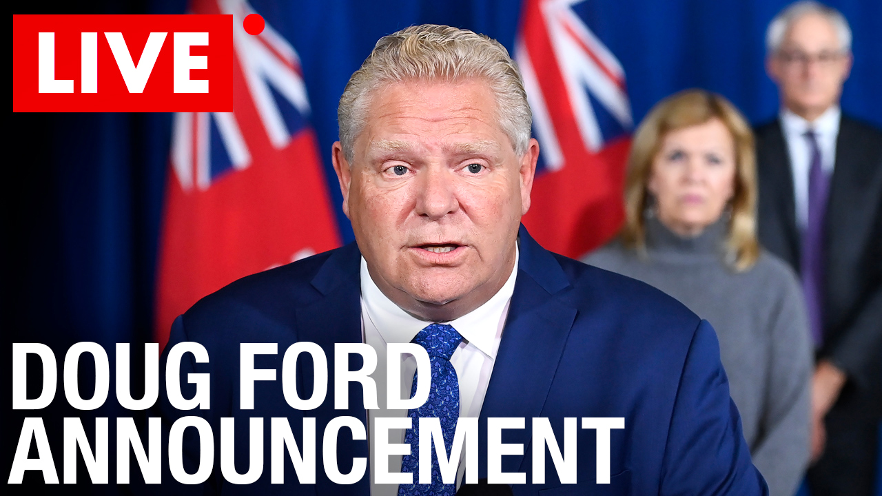 WATCH: Doug Ford Lockdown Announcement 11/20/2020