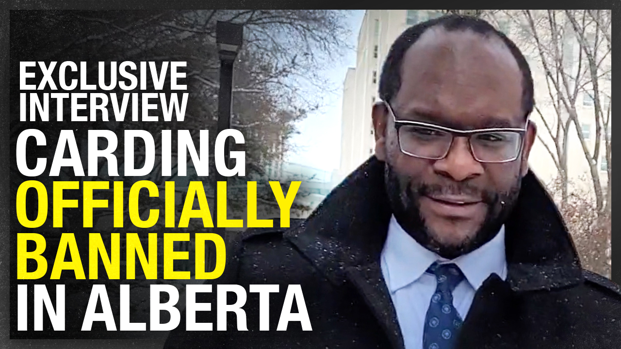 Alberta BANS carding by police | Justice Minister Kaycee Madu with Sheila Gunn Reid