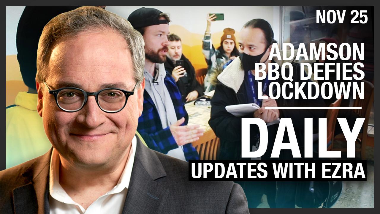 DAILY | Adamson BBQ defies lockdown, Rebel News is on scene!
