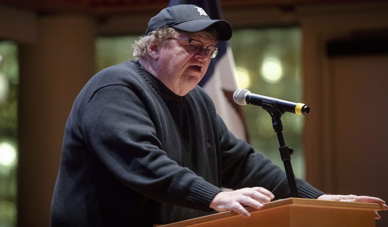 Michael Moore urges Trump supporters to wear masks