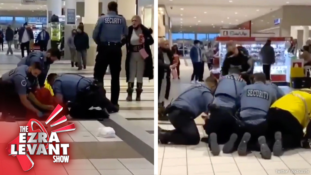 ON CAMERA: Ontario Mall Security Beats Up A Mask-Wearing Man