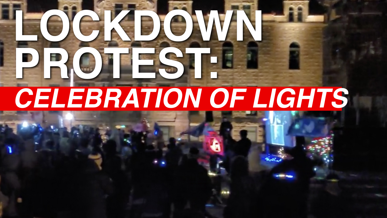 Protesters brave bitterly cold weather to shine a light on FREEDOM