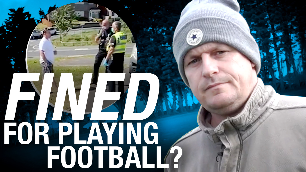 Fined for playing football! UK cops on film charging man after leaving field with family