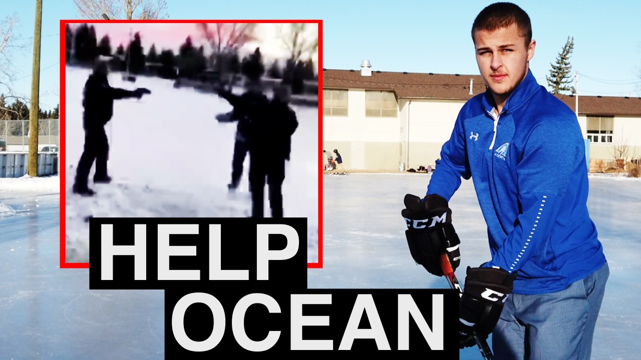PUNISHED for PLAYING HOCKEY: Calgary police threaten to TASER young skater at outdoor rink