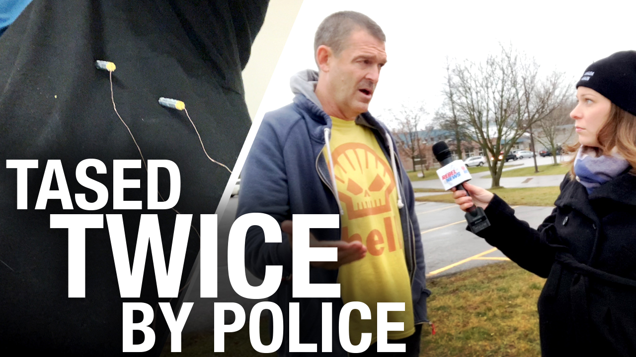 """Cop Karen"" TASES man near his heart over refund at YMCA in Cobourg, Ontario"