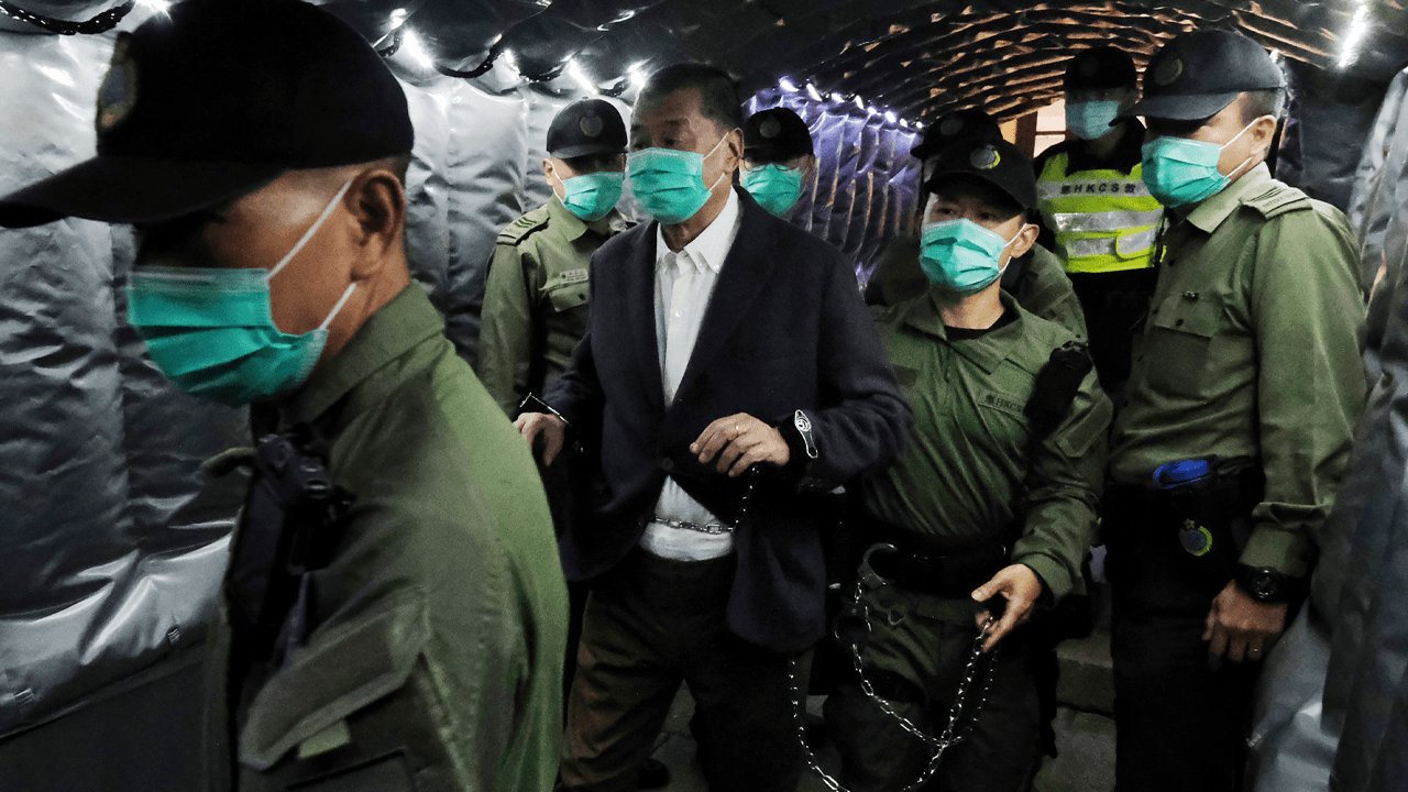 Hong Kong pro-democracy activist Jimmy Lai sent back to jail