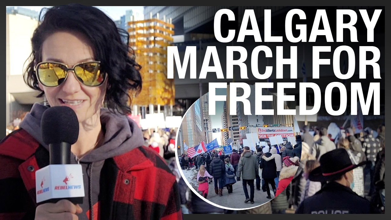 Albertans show off COVID tickets: Freedom protesters REACT to politicians heading south for Xmas