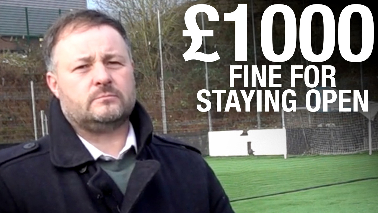 Football pitch nets £1,000 fine, closure threats for opening under lockdown
