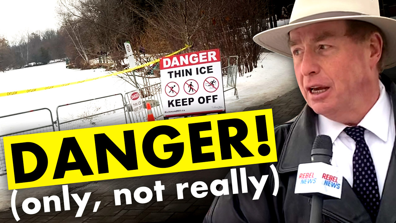 "City claims ice is ""too thin"" for skating, shuts down outdoor rink because of COVID"