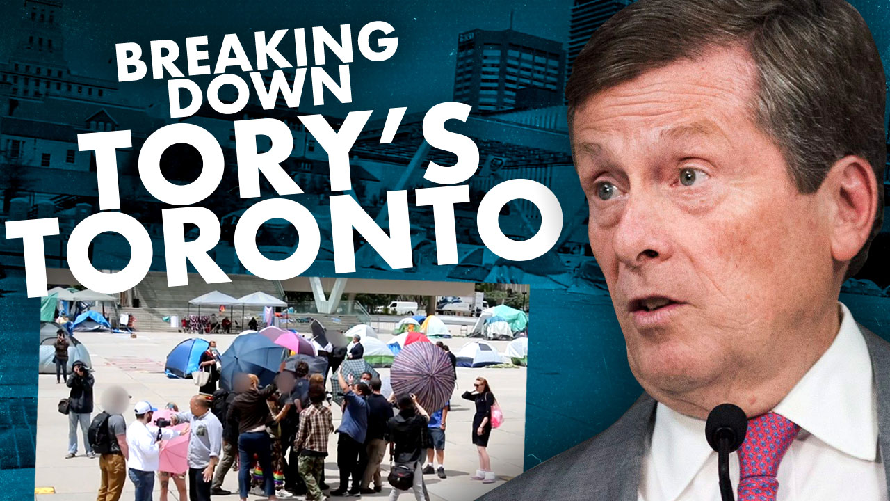 Toronto Mayor John Tory caught spying on Rebel News