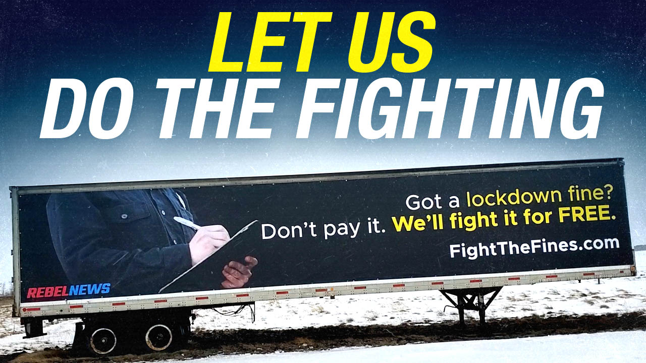 New billboard: FightTheFines.com alongside Alberta's busiest highway