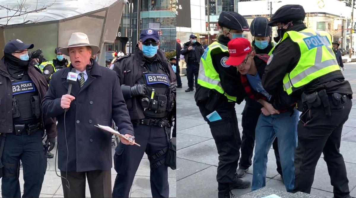 Toronto police ARREST lockdown protesters