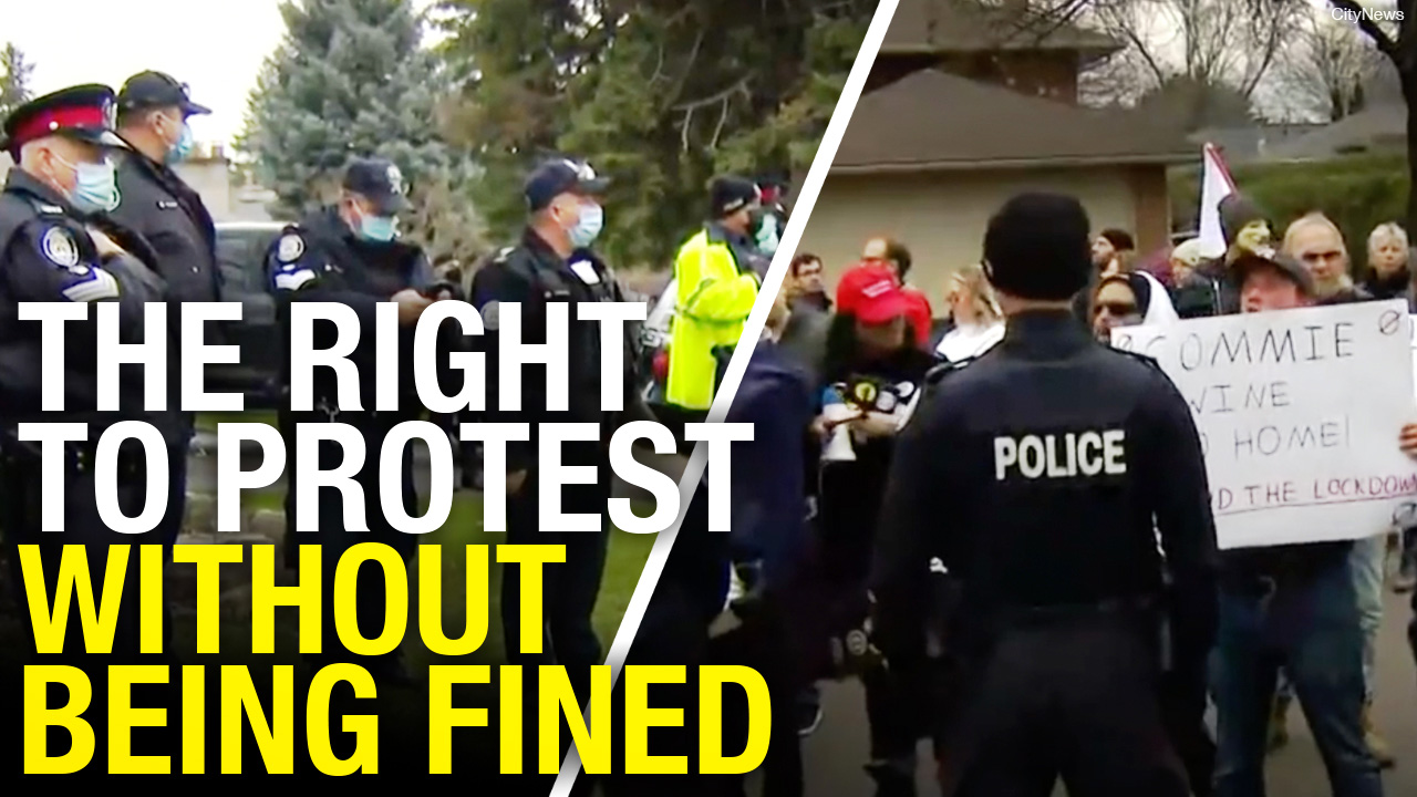 Ticketed for protesting at Doug Ford's house
