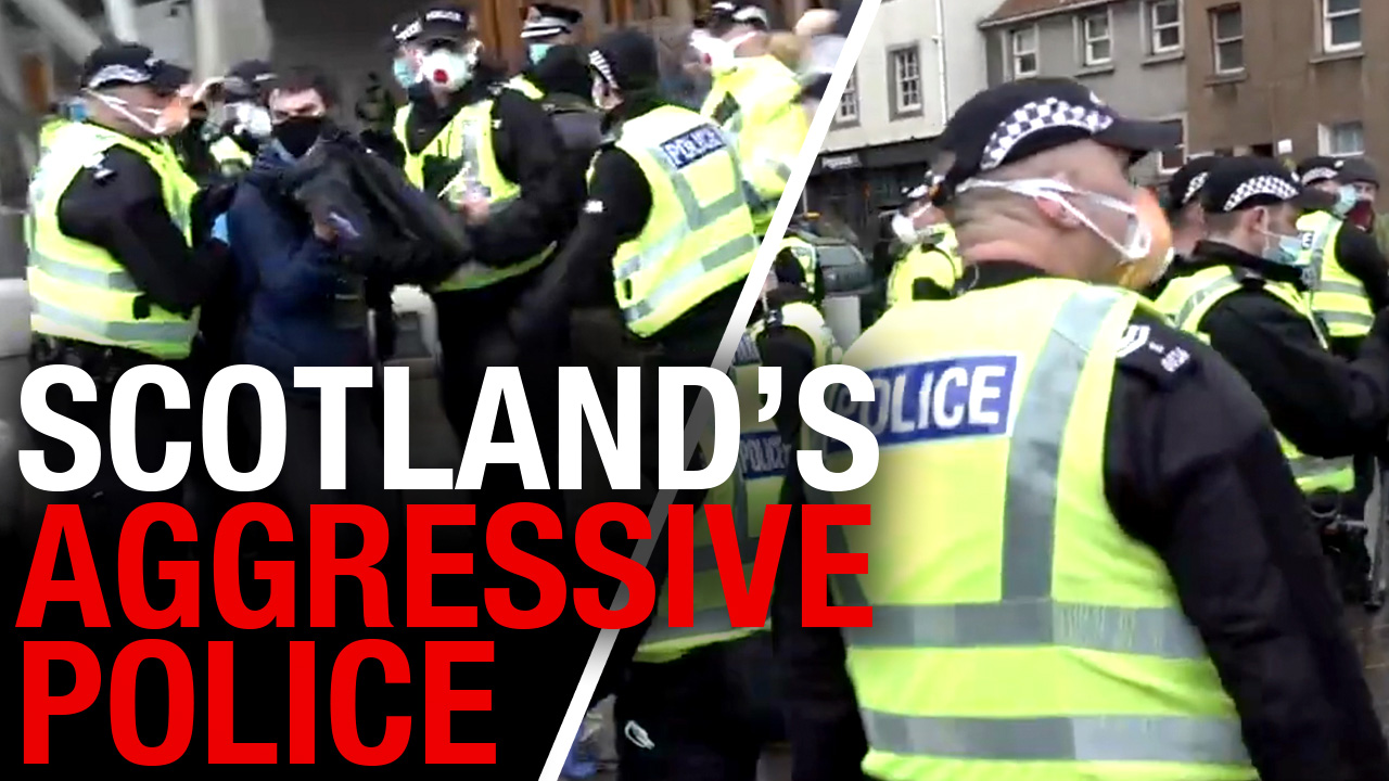 Scottish Lockdown: Arrested and fined at an Edinburgh rally