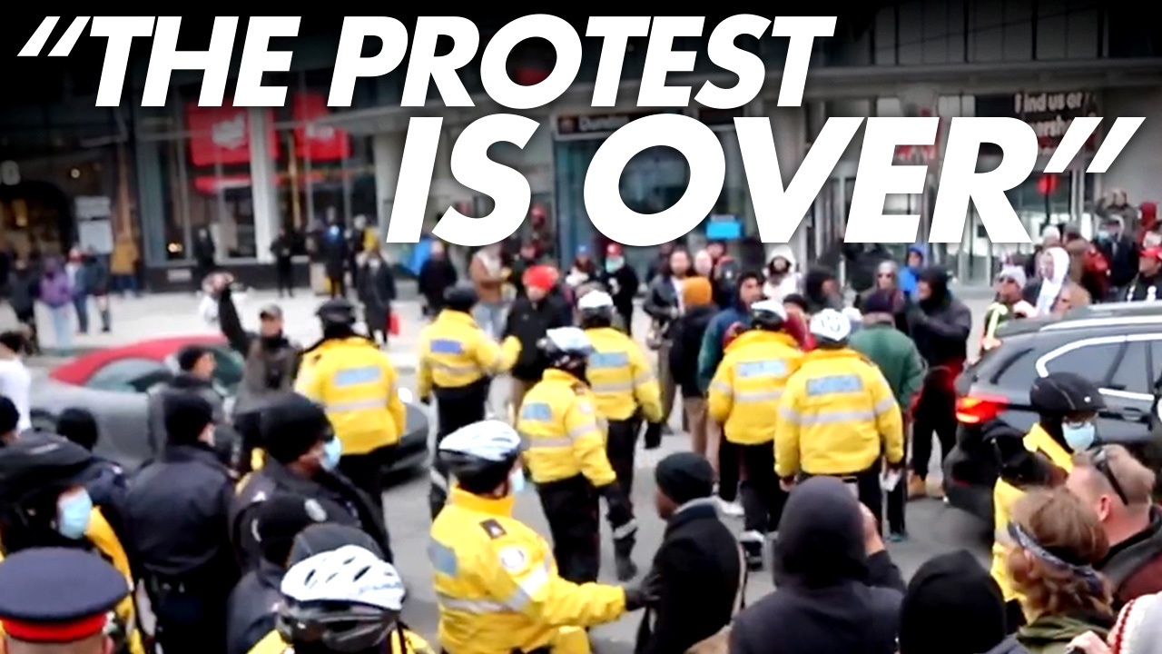 SNEAK PREVIEW: Toronto cops grab, tackle, arrest protesters