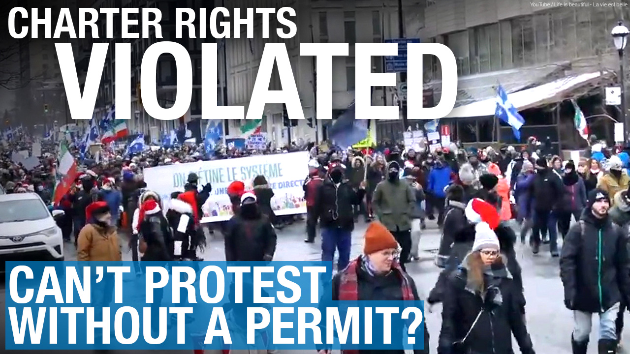 "Permit, please! ""Using an instrument"" nets roving protester a fine in Montreal"
