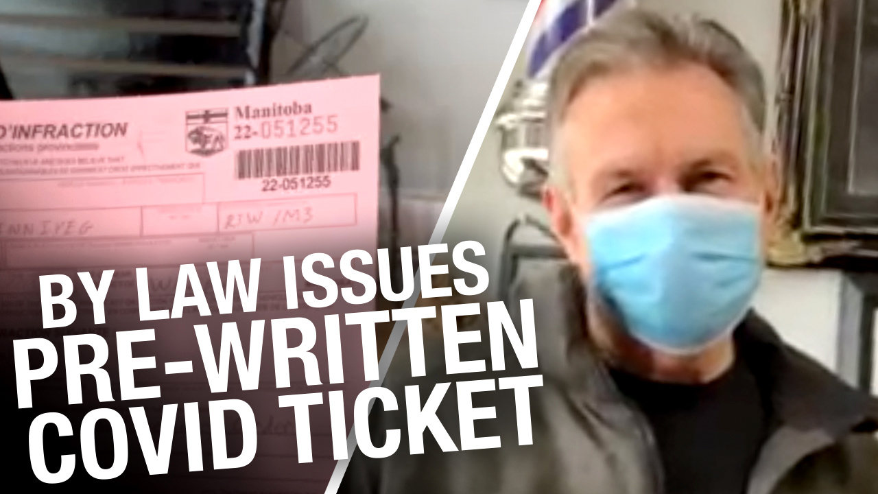"""""""Speak of the devil!"""" Parlor Tattoos films bylaw issuing pre-written COVID ticket"""