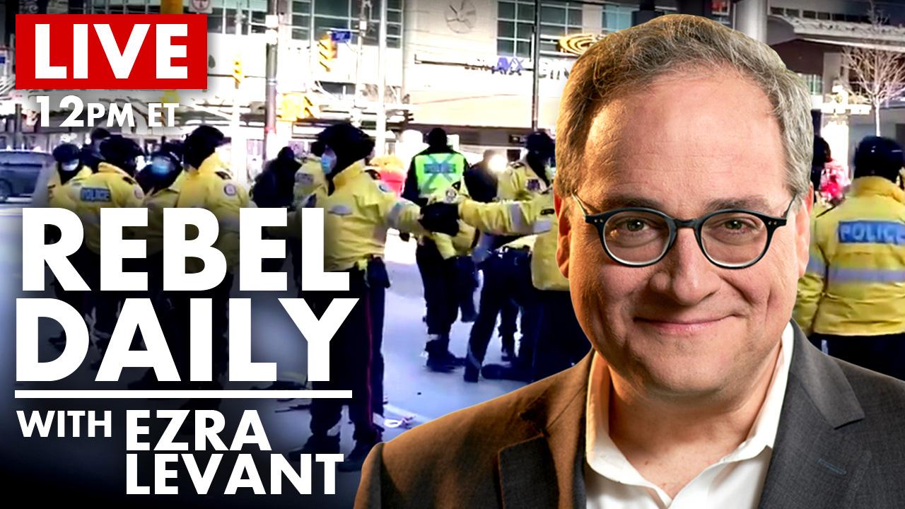 DAILY | Police VS Rebel News at Toronto Protest