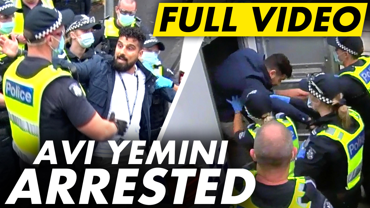FULL VIDEO: Avi Yemini ARRESTED for journalism on Australia Day