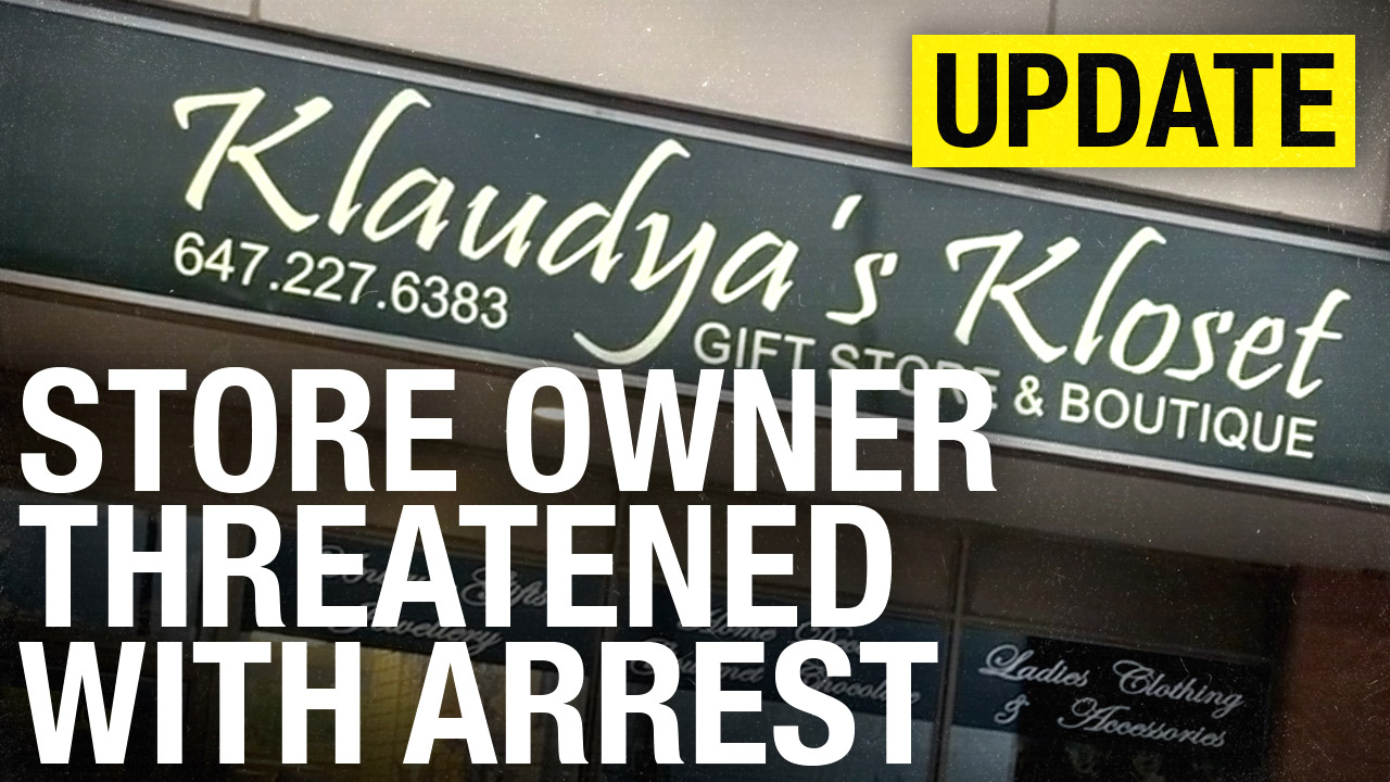 Boutique shop owner threatened with JAIL TIME after reopening