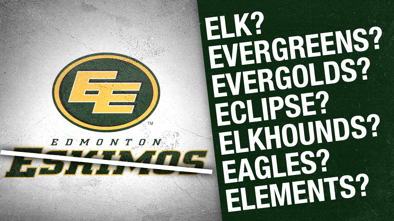 Edmonton CFL team releases Esikmos replacement nickname choices