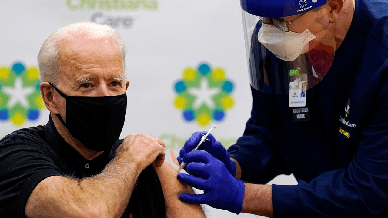 Biden falsely claims that there was no COVID vaccine when he entered office