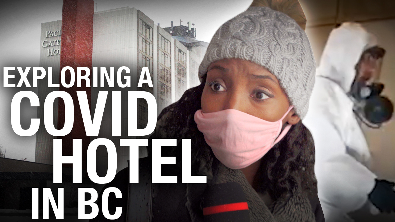 Investigating a COVID hotel in British Columbia