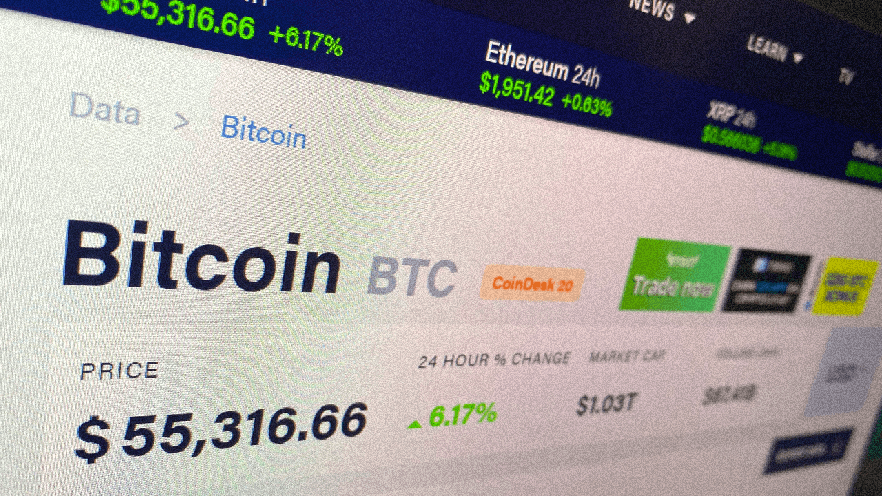 Price of Bitcoin reaches all-time high at $56k