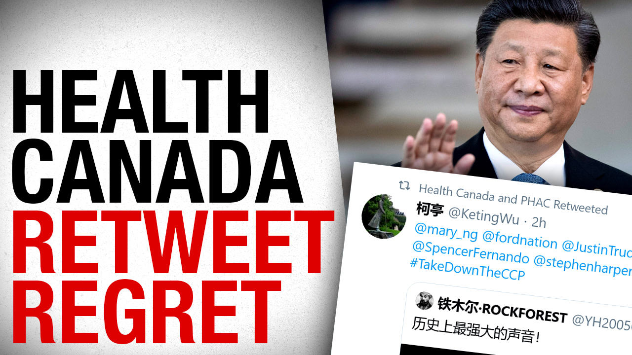 "Anti-communist retweet sent Health Canada on this ""urgent"" internal hunt"