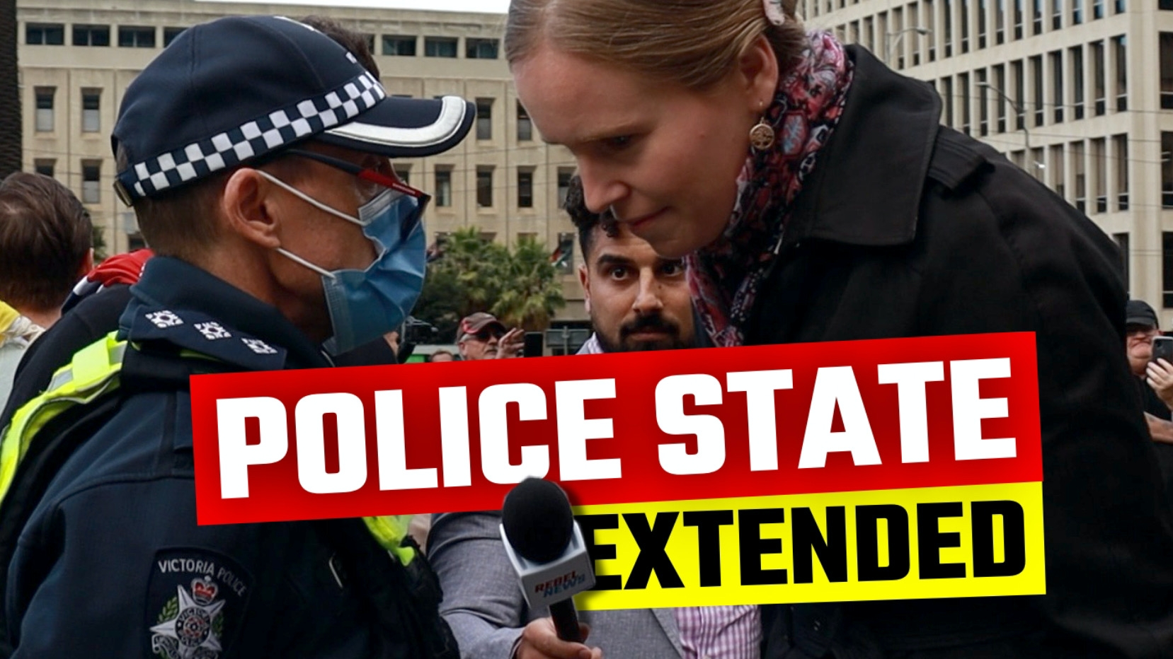 This is what happened at the State of Emergency protest in Melbourne