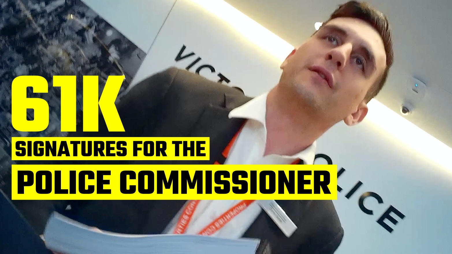 WATCH Avi Yemini take his petitions to the top