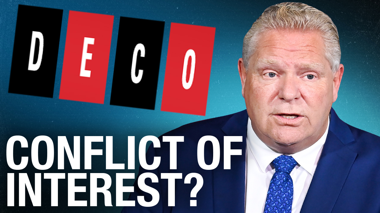 Does owning Deco Labels put Doug Ford in a sticky situation?