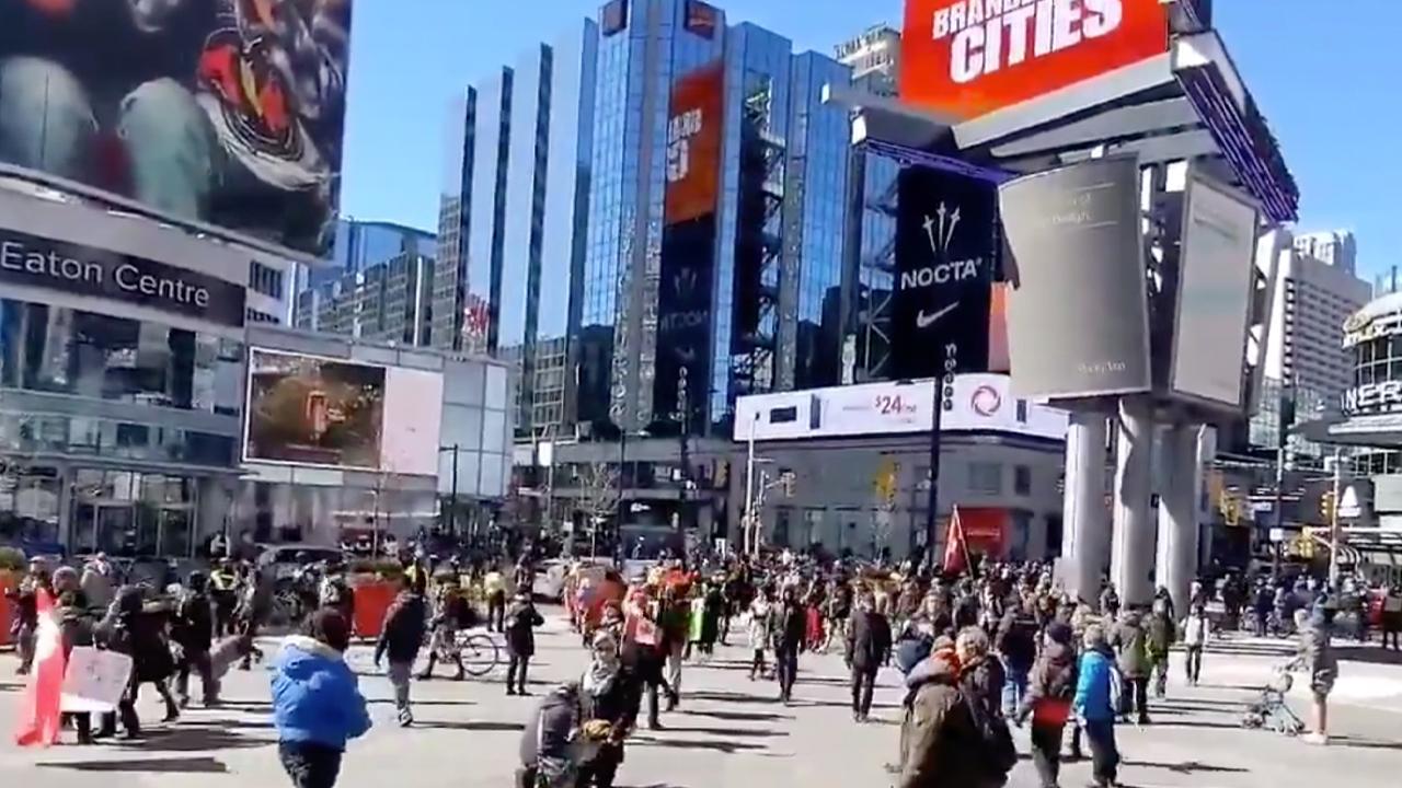 No fines, arrests as Toronto lockdown protests continue