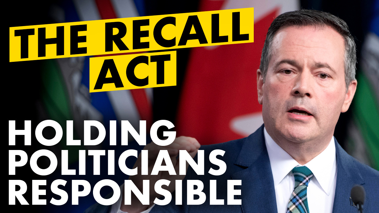 Recall elections are about to become a reality in Alberta