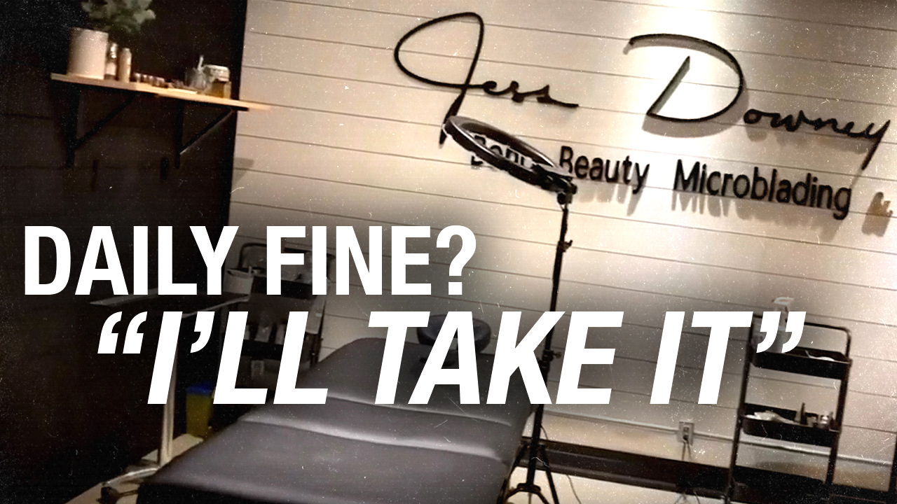 Spa THREATENED with $100,000 a day in fines — Boho owner says microblading safer than WalMart