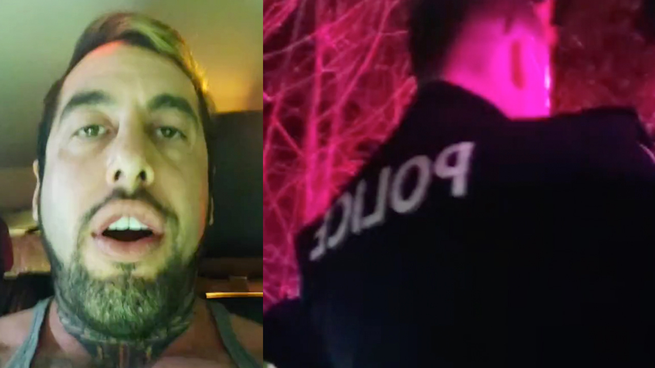 WATCH: Chris Sky has heated exchange with police