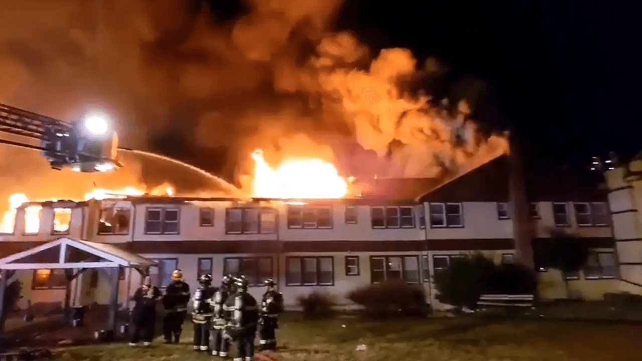 Massive fire at New York nursing home leaves one dead, one firefighter missing