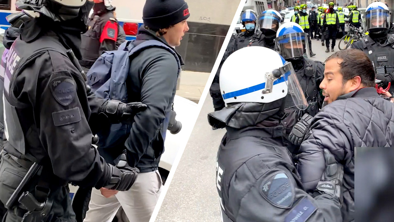 TEASER: Rebels arrested covering lockdown protest in Montreal