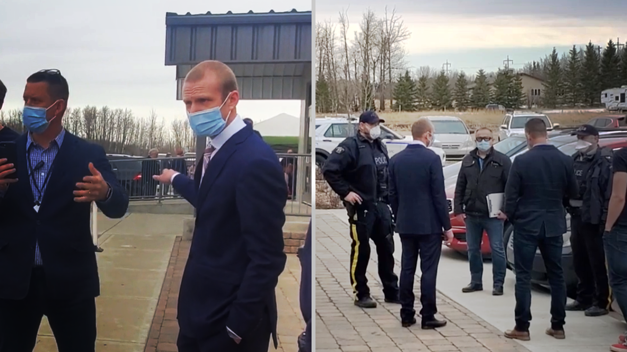 RAW FOOTAGE: GraceLife reps, RCMP, health inspector negotiate entry to the church