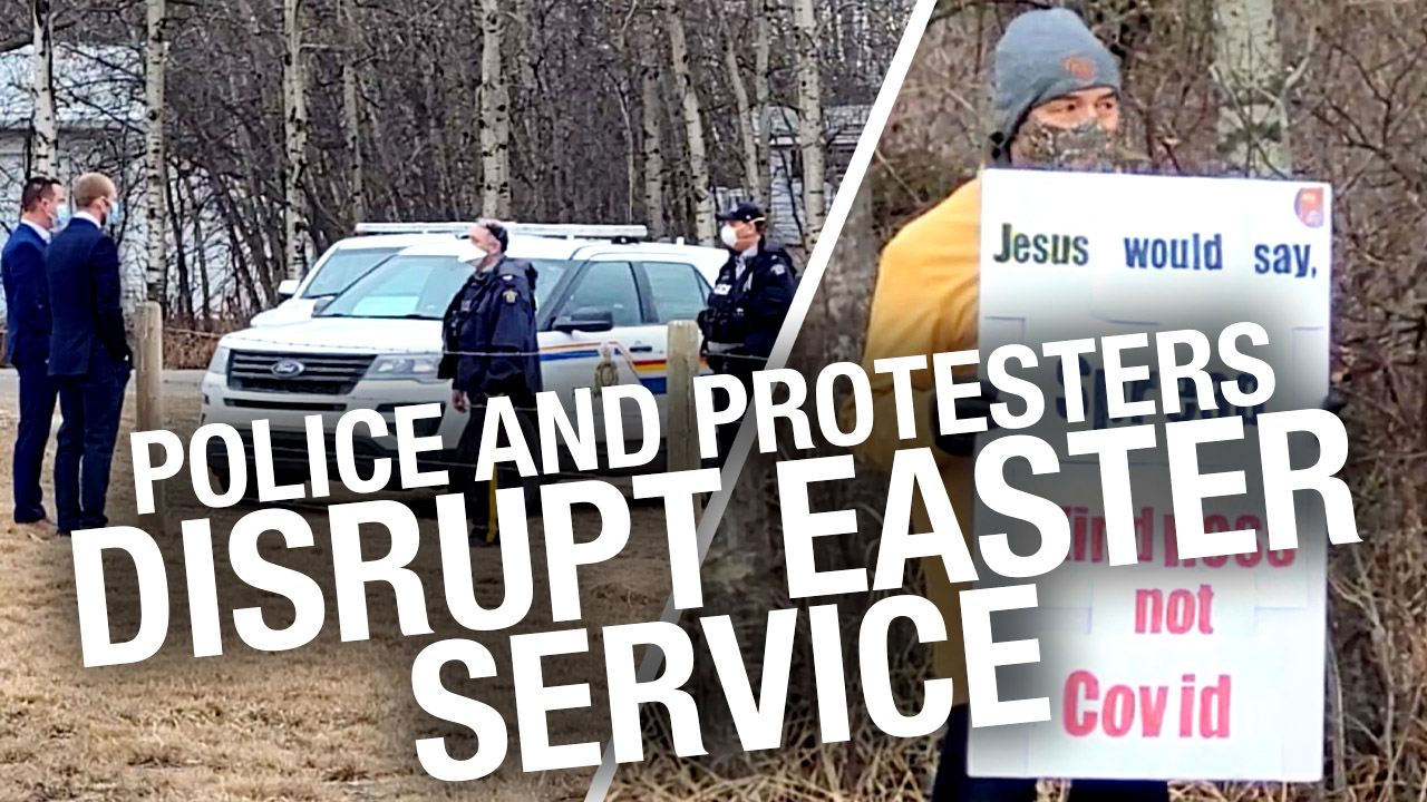 """""""Westboro Baptist-type"""" protesters cry after GraceLife Church elders approach them on Easter Sunday"""