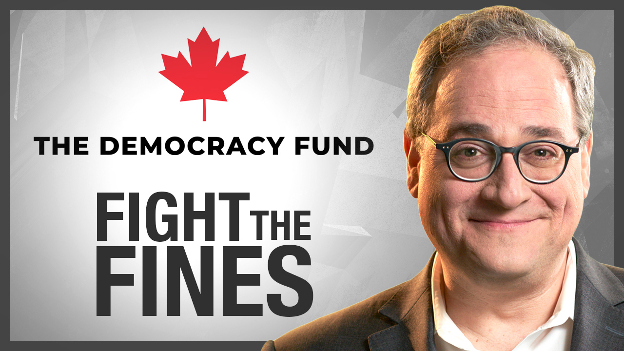 Registered Canadian charity now helping Fight The Fines — charity receipts available!
