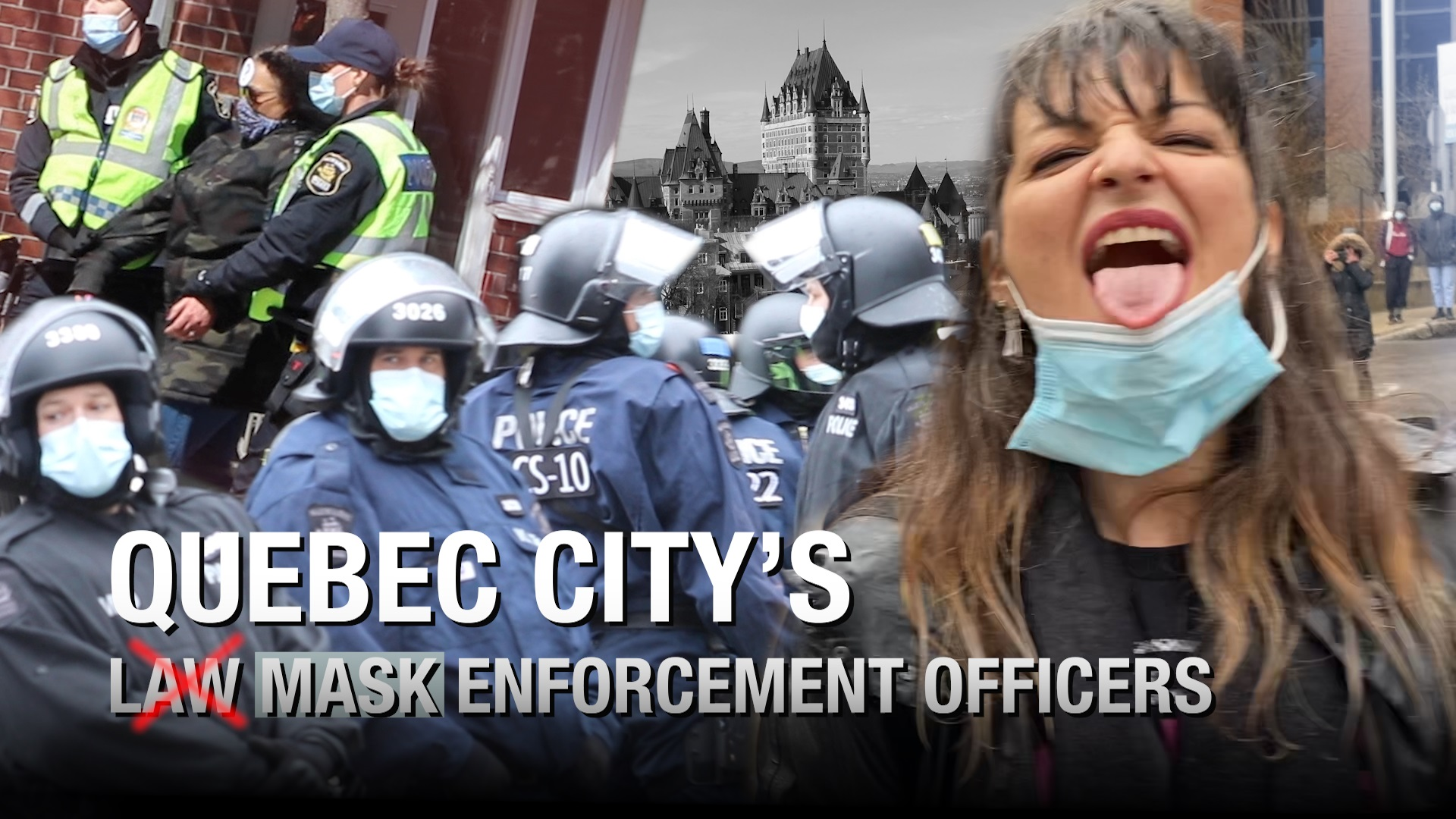Police threaten protesters with JAIL at Quebec City anti-lockdown protest