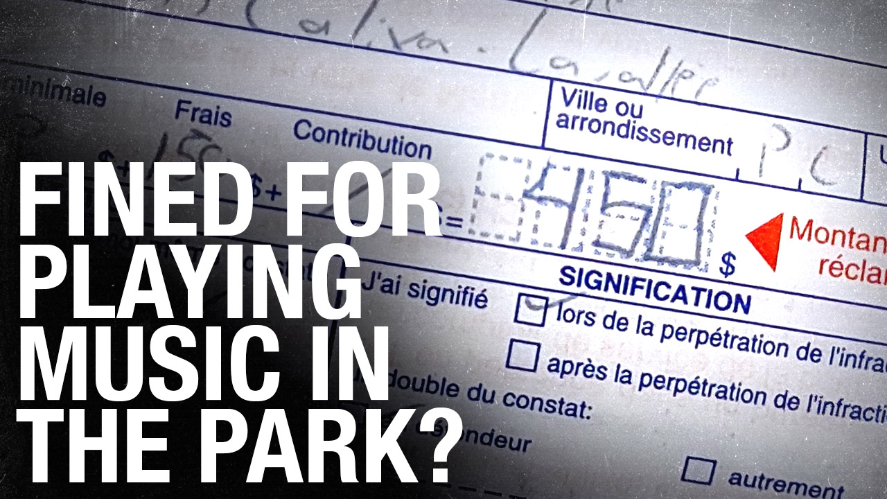 Musician handed $450 COVID fine for playing in urban Montreal park