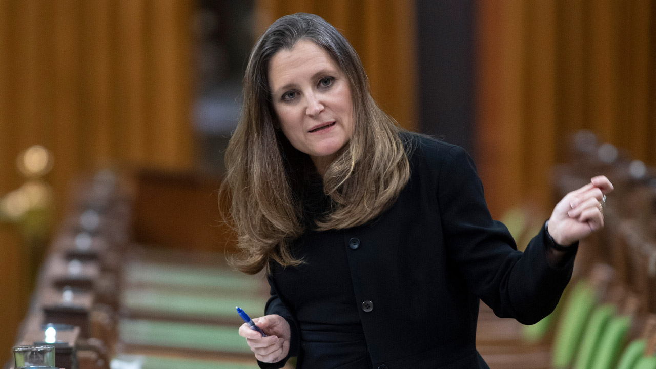 "Freeland asked officials for info on ""immunopassports"" as early as April 2020"