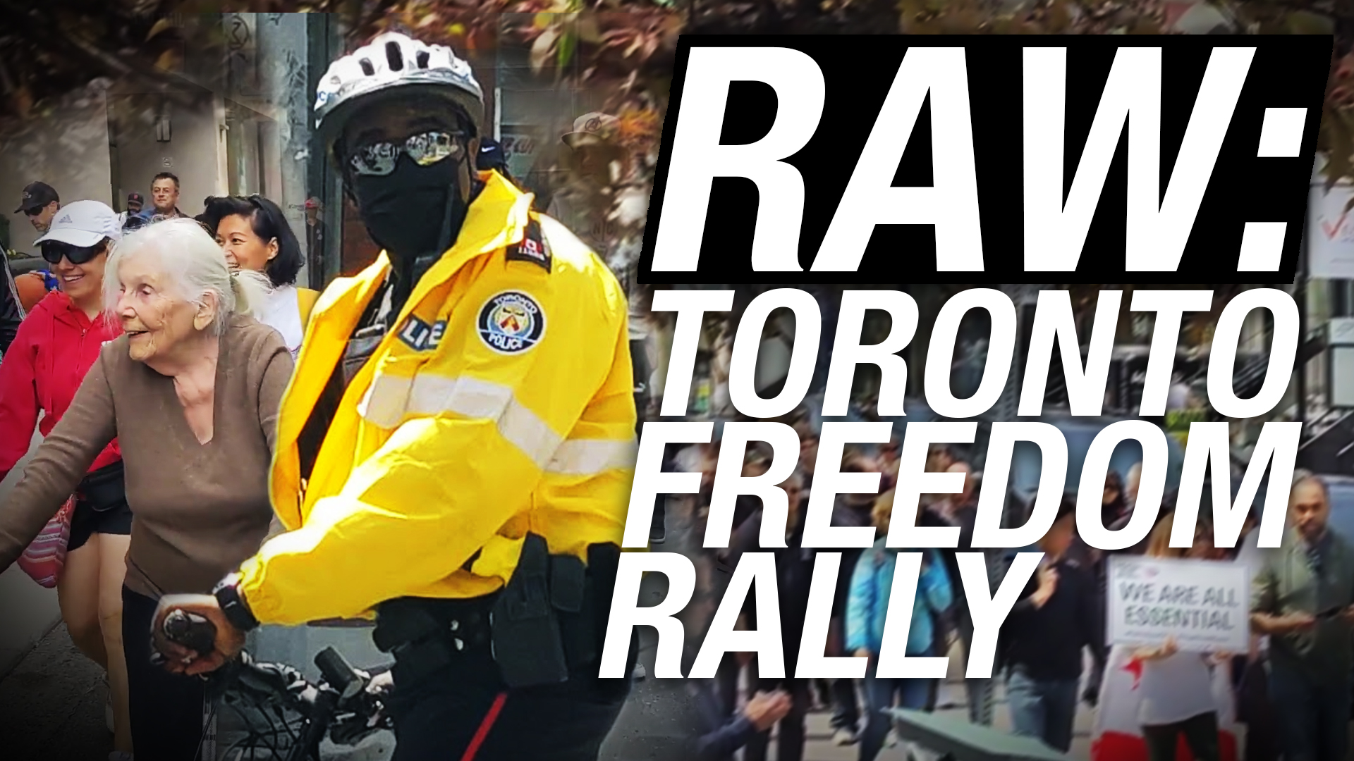 Police keep the peace between protesters, angry onlookers at Toronto Freedom Rally