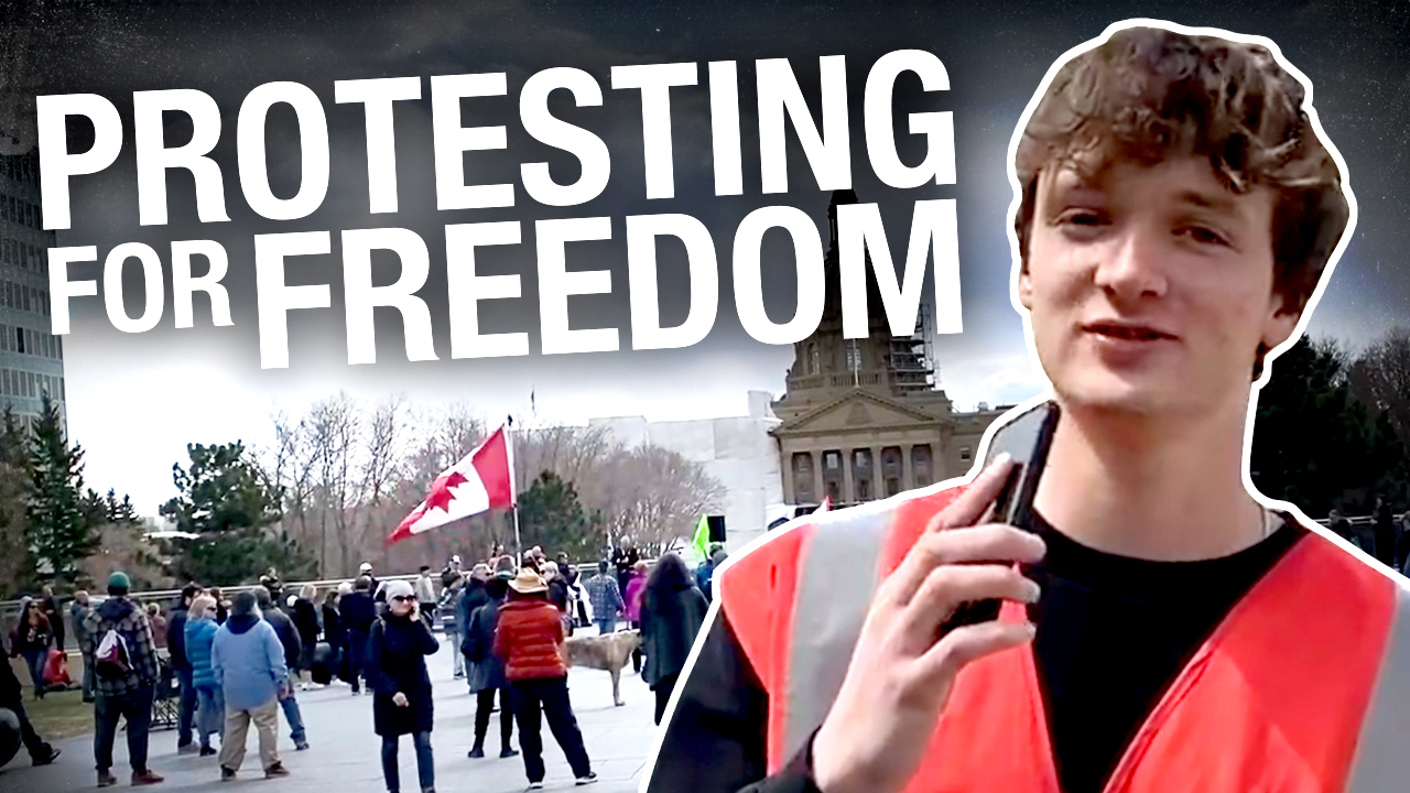 """Standing for rights and freedoms"": Alberta legislature protesters continue risking $1,200 fines"