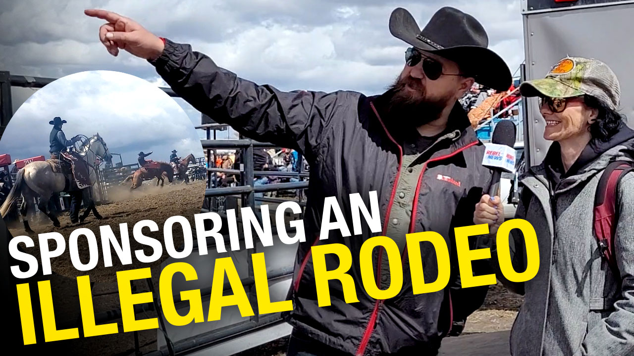 Derek Fildebrandt on freedom, cops and Kenney at illegal Alberta rodeo